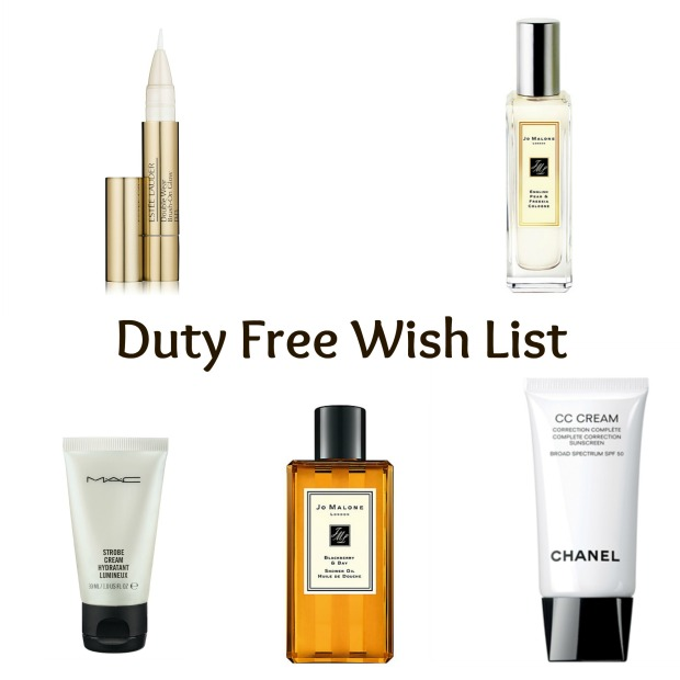Beauty Blog Duty Free Wish List