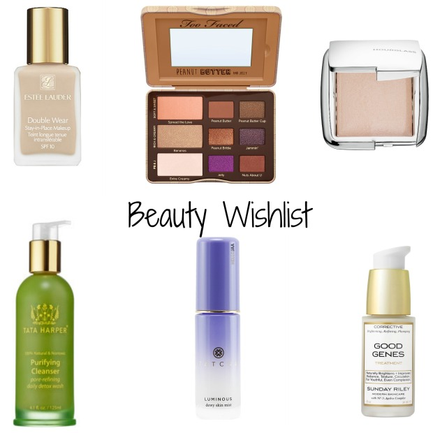 Current beauty makeup and skincare wishlist