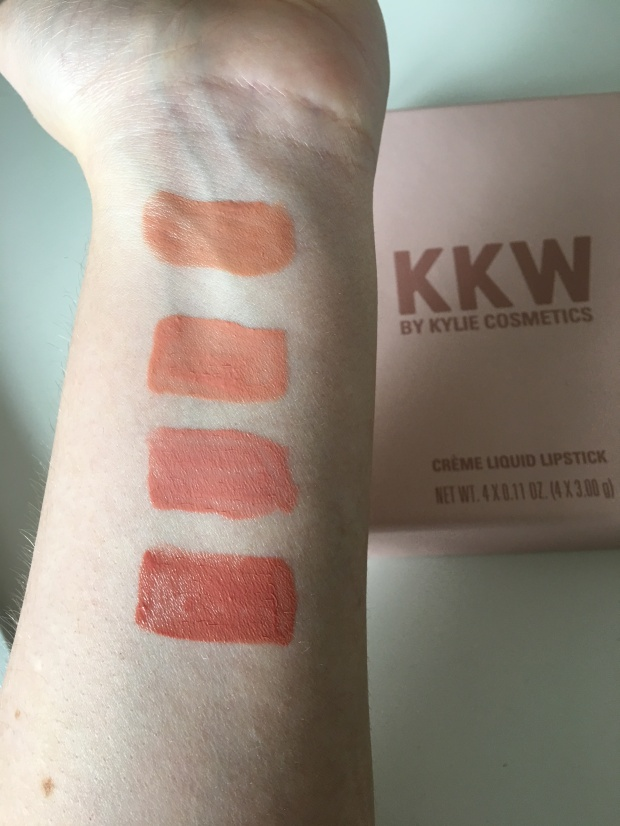 KKWxKylieCosmetics Swatches